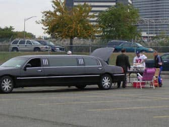 Limousine bij de Giants