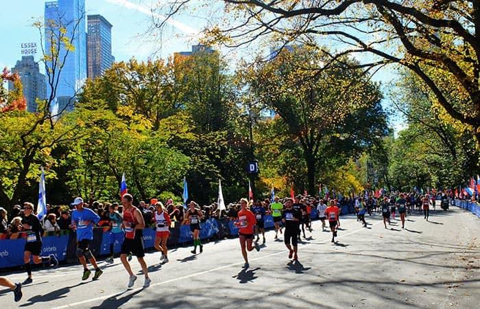 New York Marathon - Hardlopers in Central Park