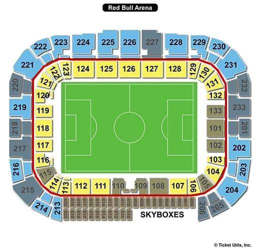 New York Red Bulls - Red Bull Arena plattegrond