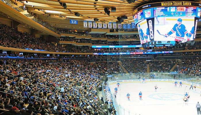 New York Rangers - Wedstrijd in Madison Square Garden