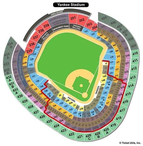 New York Yankees - Yankee Stadium Seating Chart